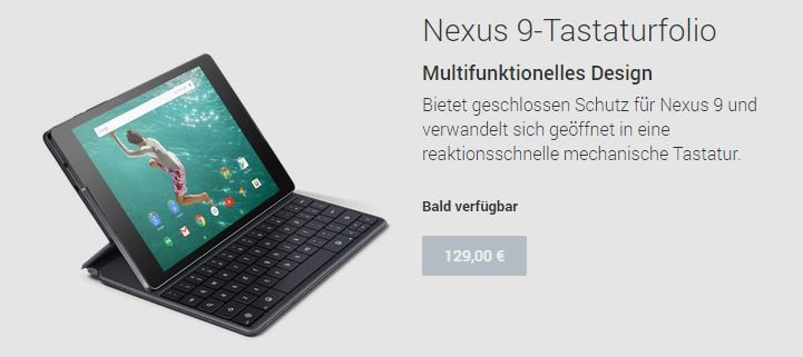 nexus 9 google play tastatur