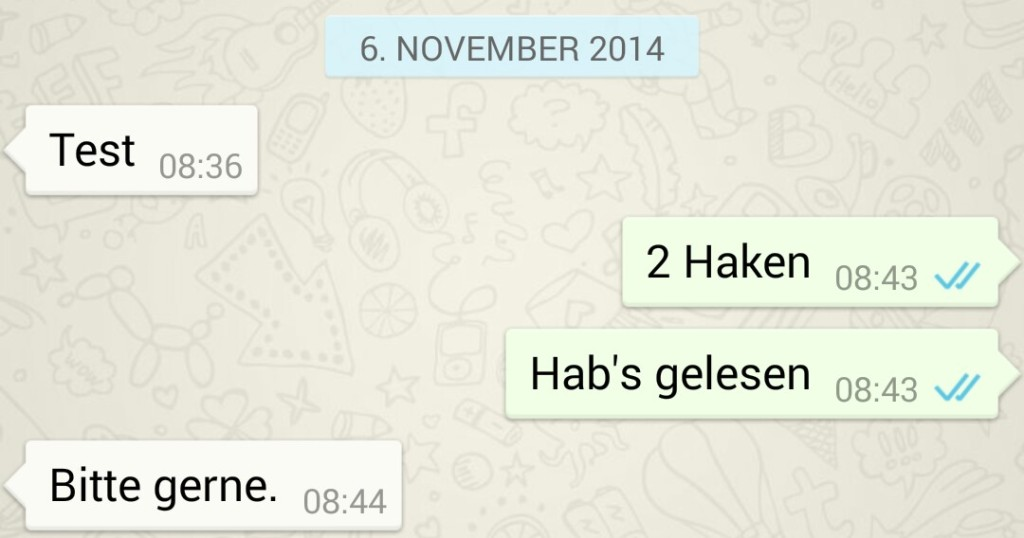 Whatsapp gelesen haken