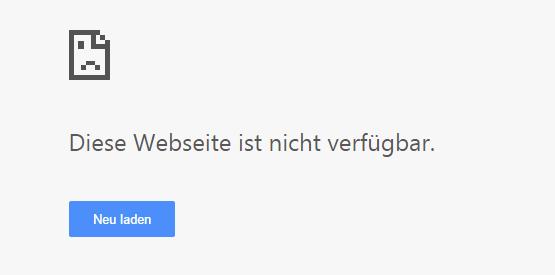 diese webseite ist nicht verfügbar