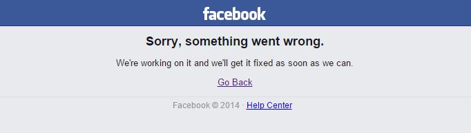 facebook fehler down