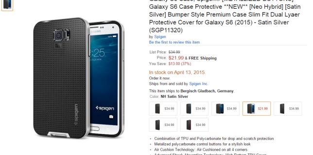 spigen galaxy s6 case amazon4