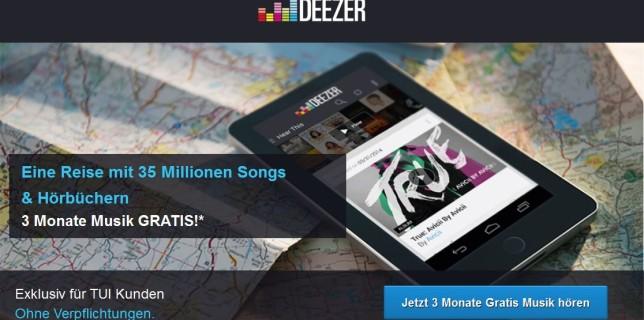 Deezer Premium 3 Monate kostenlos