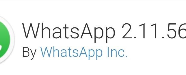 Whatsapp Version 2.11.561