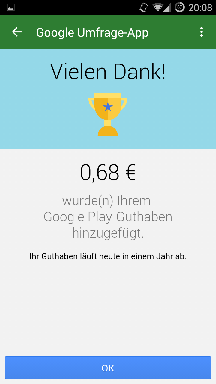 googleplay guthaben verdienen mit der google umfrage app mobilectrl. Black Bedroom Furniture Sets. Home Design Ideas