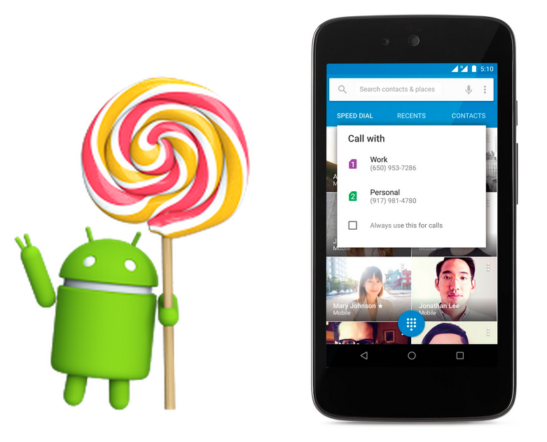 android 5.1 Contacts