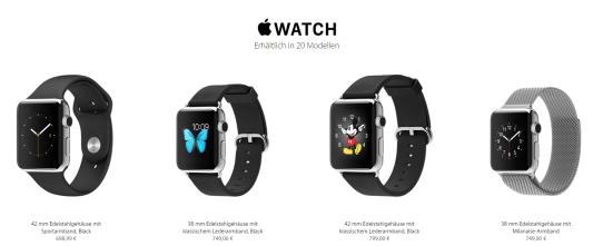 apple watch preise