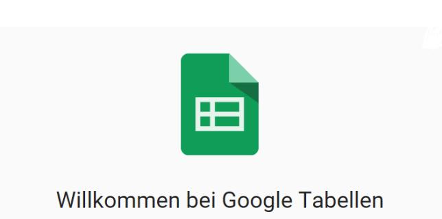 google tabellen sheets logo
