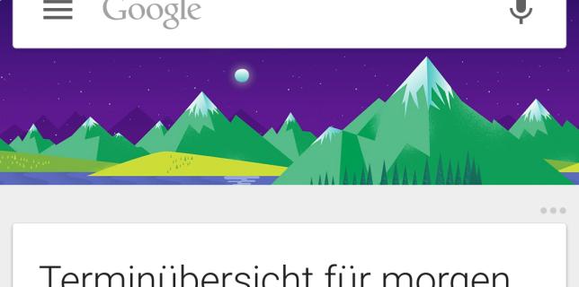 terminuebersicht Google now ausschnitt