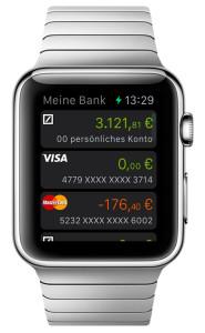 Deutsche Bank Apple Watch App Finanzübersicht