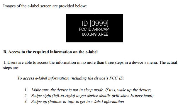 FCC Label Google Glass