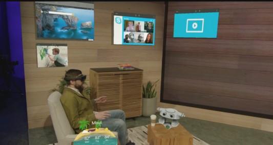 HoloLens im Wohnzimmer