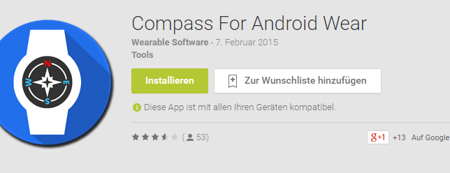 compass for android wear