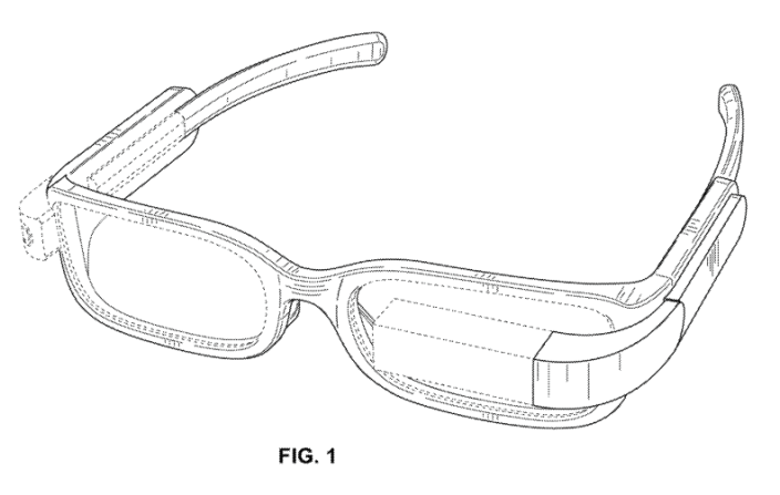 google glass patent design