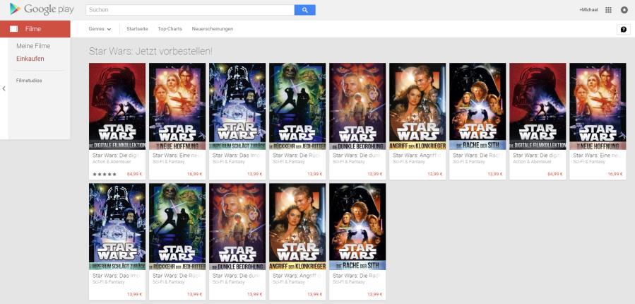 google play movies star wars