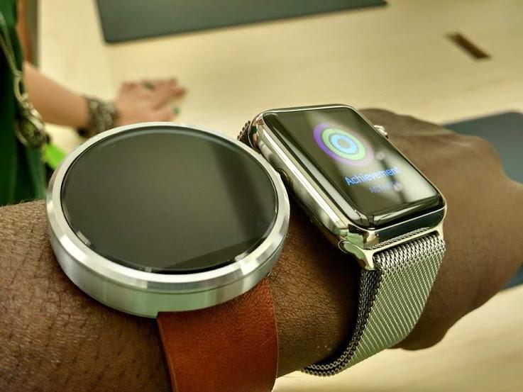 moto 360 vergleich apple watch