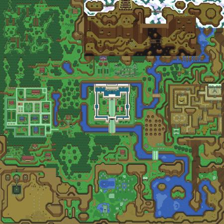 zelda karte OMFG: komplette Karte von Legend Of Zelda – A Link To The Past als  zelda karte