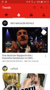 YouTube App neues Desing