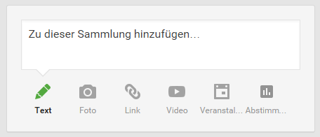 google plus sammlungen post