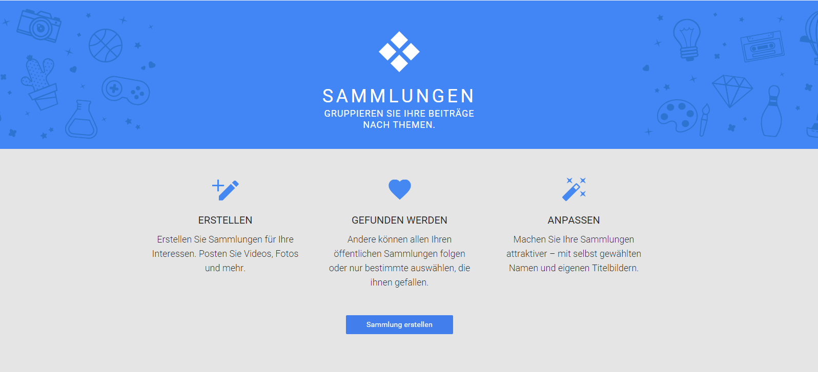 google plus sammlungen
