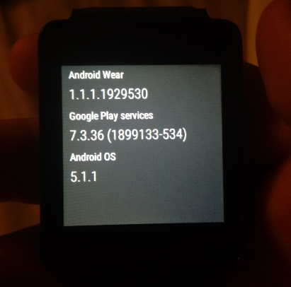 lg g watch android wear 5.1.1