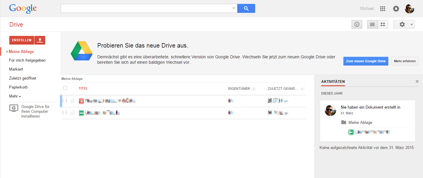 google drive how to change layout