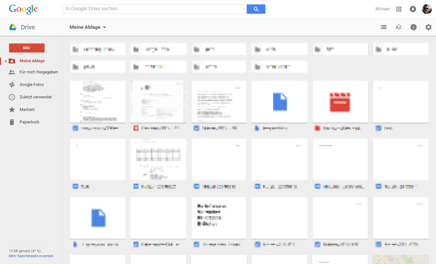 google drive layout neu