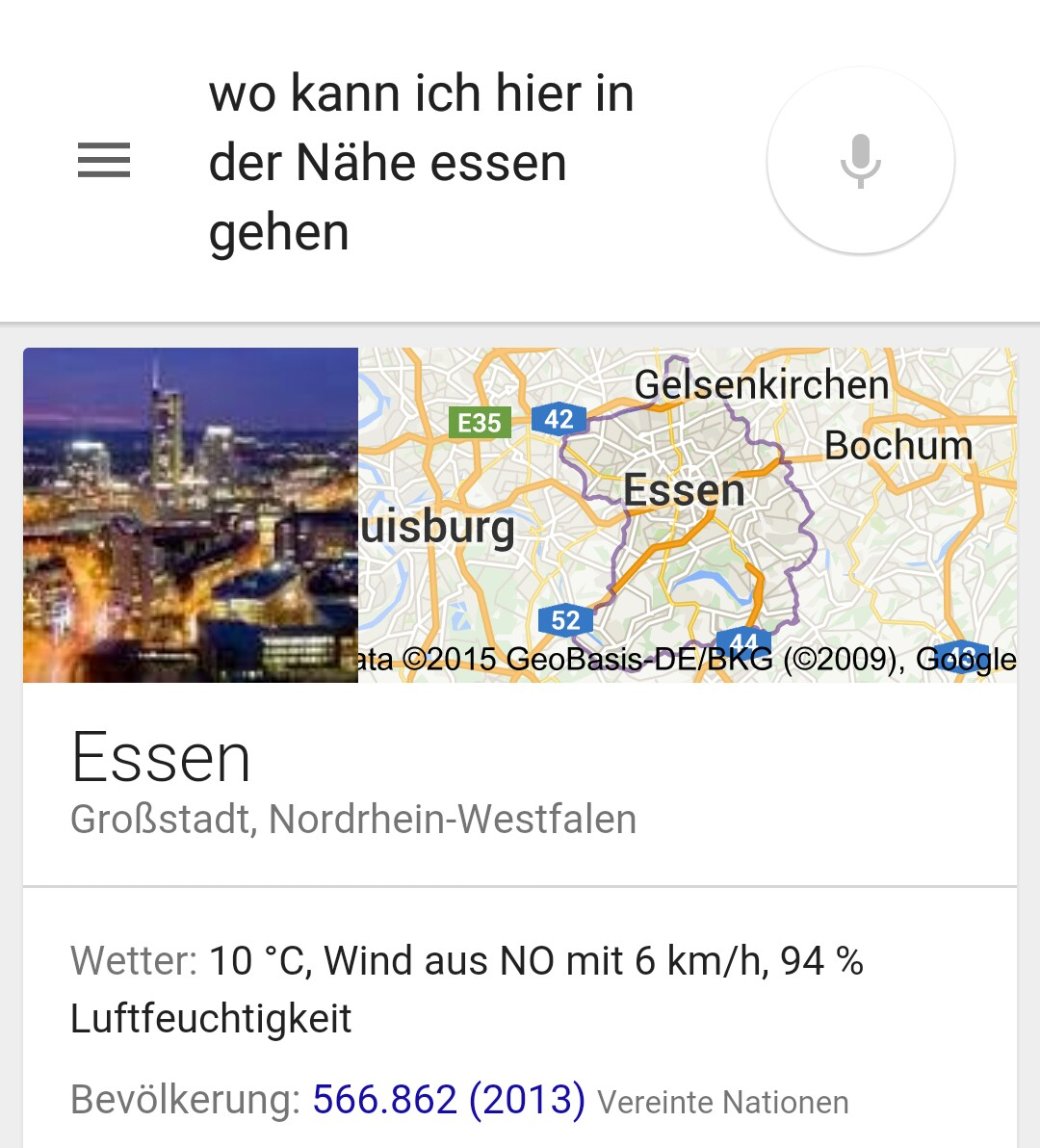 google now essen