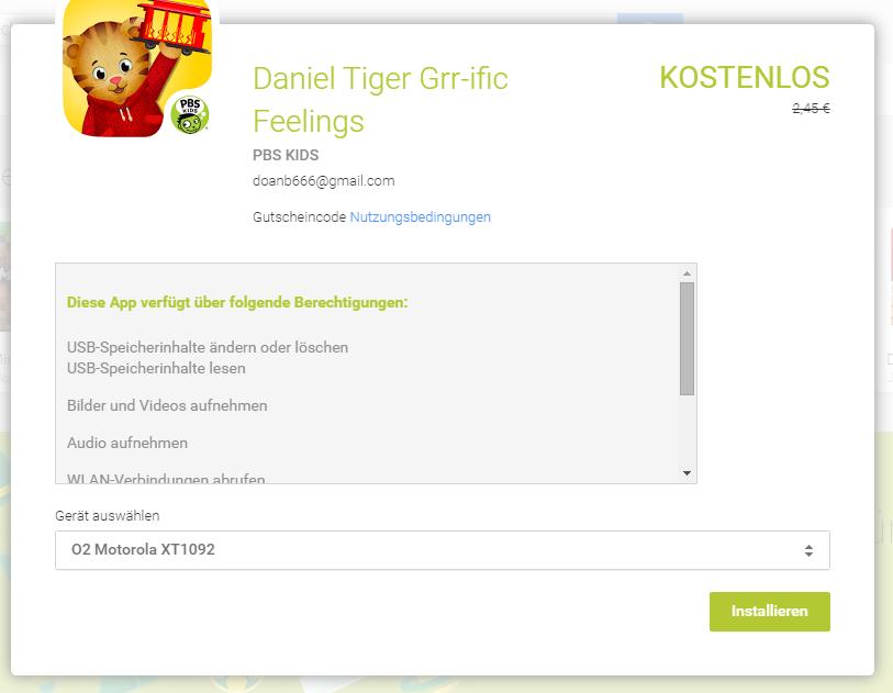 grr-ific Feelings play store app der woche gratis