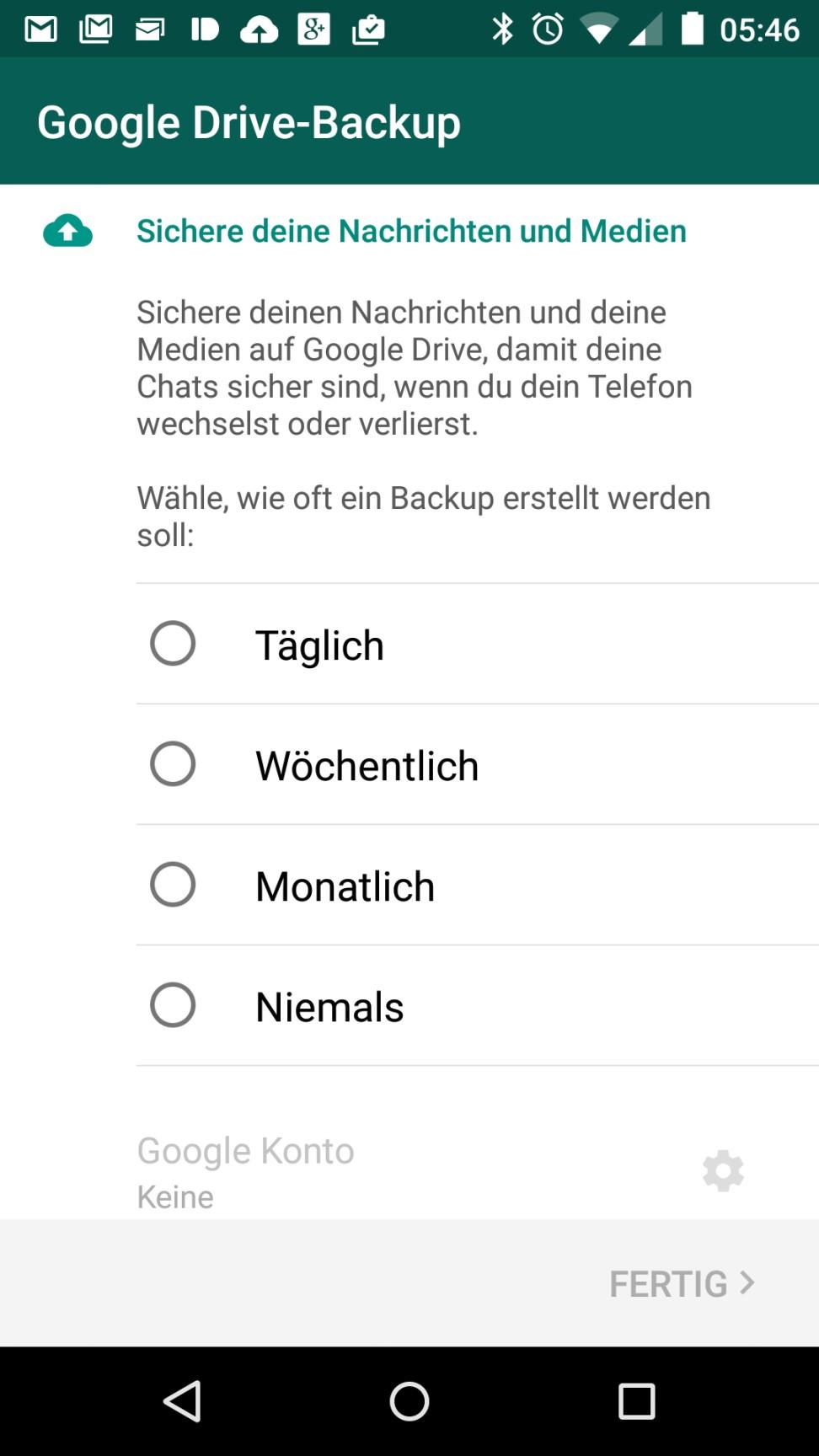 whatsapp sicherung backup drive (2)
