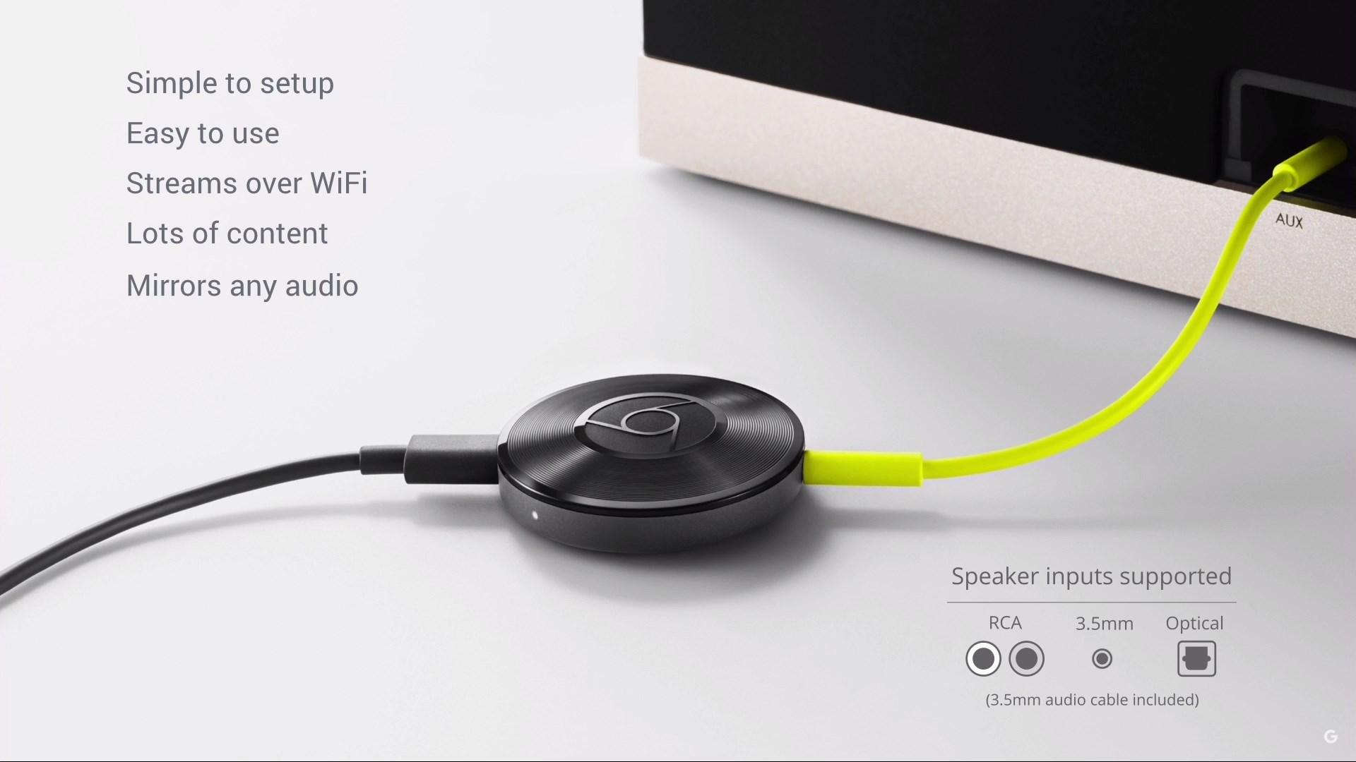 chromecast audio anschluesse
