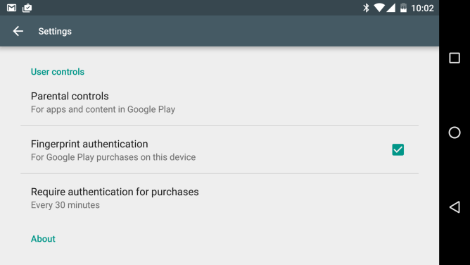 Play Store Fingerabdruck (2)