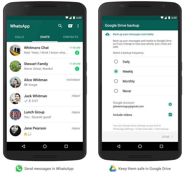 google drive whatsapp backup