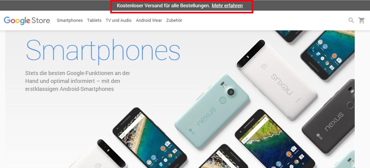 google store kostenloser versand