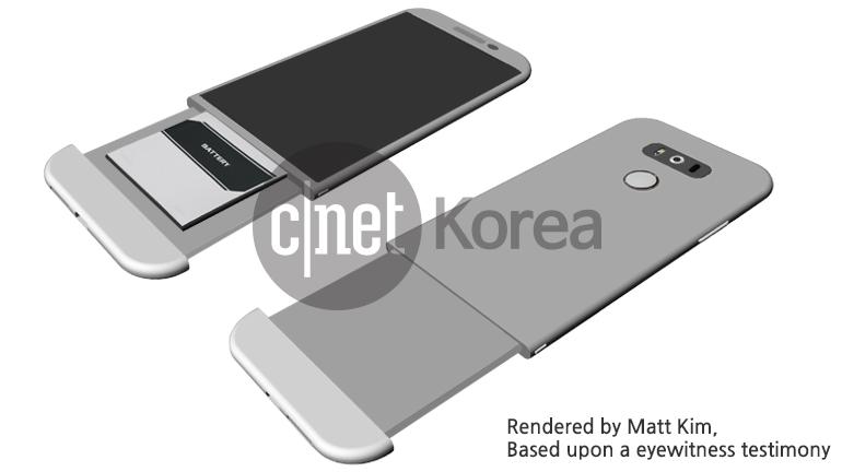 Render LG G5 akku mechanismus