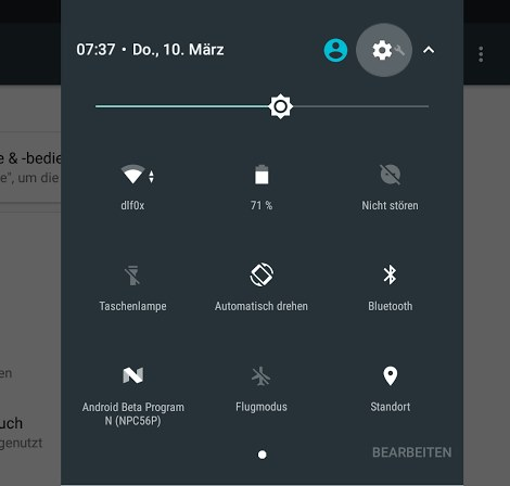 Android N System UI Tuner