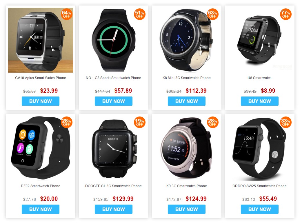Gearbest anniversary smartwatch