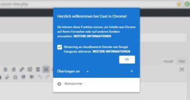 [Kurzinfo] Chrome kann jetzt nativ auf Cast-fähige Geräte streamen
