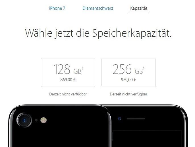 iphone 7 iphone 7 plus spezifikationen preis verf gbarkeit mobilectrl. Black Bedroom Furniture Sets. Home Design Ideas