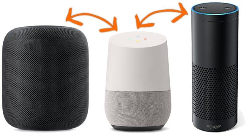 vergleich apple homepod google home amazon echo. Black Bedroom Furniture Sets. Home Design Ideas