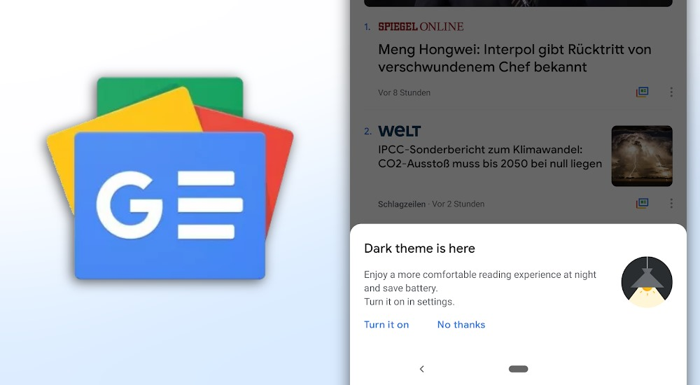 APK Download] Gut für OLED-Displays: Google News bekommt