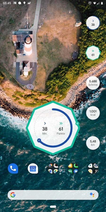 Google Fit mit neuen Widgets zu Aktivitätsübersichten